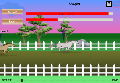 One of the Arena MiniGames, This is Horse Racing.